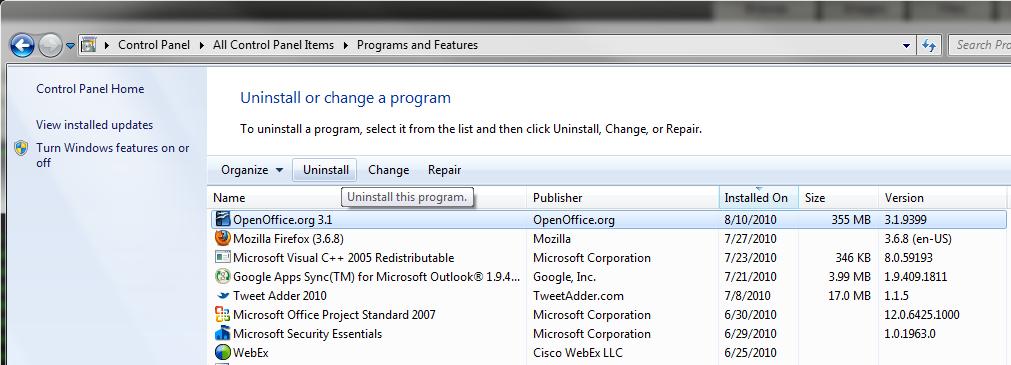 openoffice for windows xp 32 bit